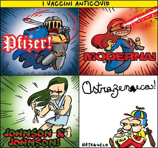 Vignetta sui vaccini di Mario Natangelo